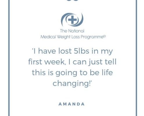 Weight loss programme testimonial